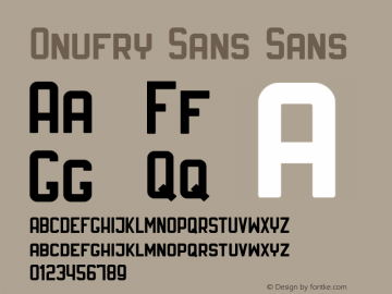 Onufry Sans