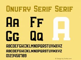Onufry Serif
