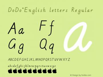 DoDo·English letters
