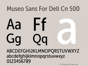 Museo Sans For Dell Cn