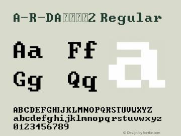 A-R-DA数字字母2