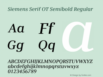 Siemens Serif OT Semibold