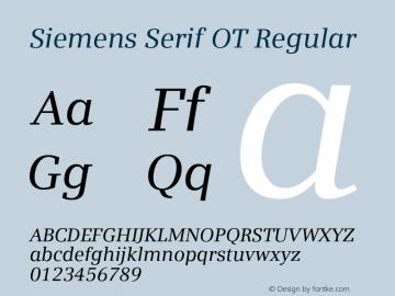 Siemens Serif OT