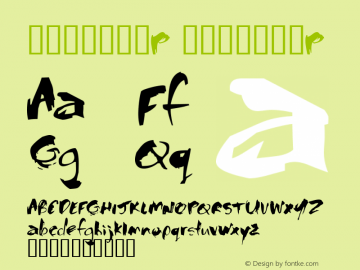 书法-英语字体P