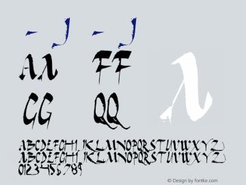书法-英语字体J