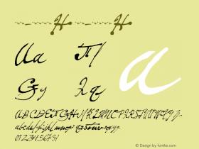 书法-英语字体H