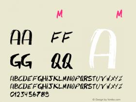 书法-英语字体M