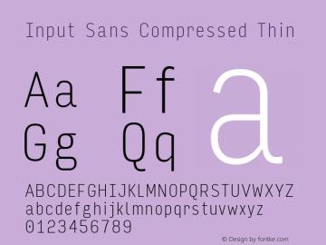 Input Sans Compressed