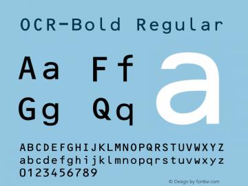 OCR-Bold