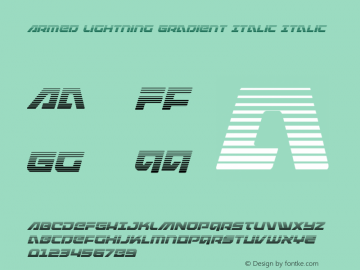 Armed Lightning Gradient Italic