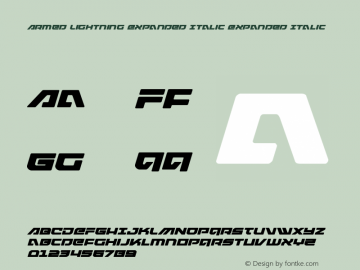 Armed Lightning Expanded Italic