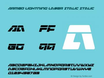 Armed Lightning Laser Italic
