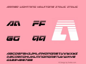 Armed Lightning Halftone Italic
