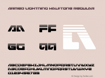 Armed Lightning Halftone