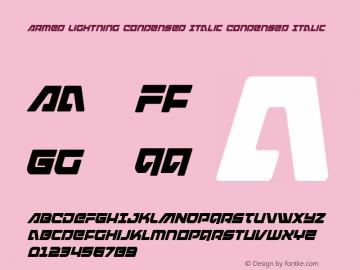 Armed Lightning Condensed Italic