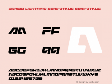 Armed Lightning Semi-Italic