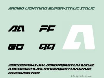 Armed Lightning Super-Italic