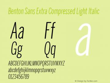 Benton Sans Extra Compressed