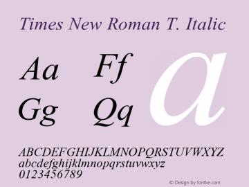 Times New Roman T.