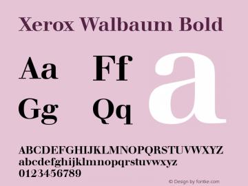 Xerox Walbaum