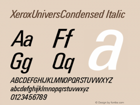 XeroxUniversCondensed