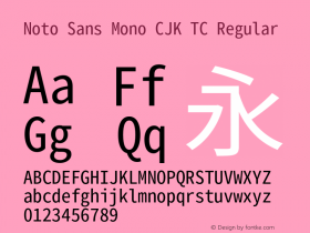 Noto Sans Mono CJK TC