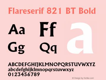 Flareserif 821 BT