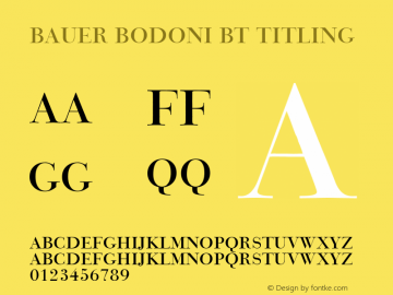 Bauer Bodoni BT