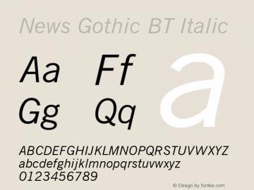 News Gothic BT