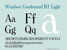 Windsor Condensed BT