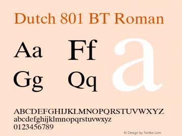 Dutch 801 BT