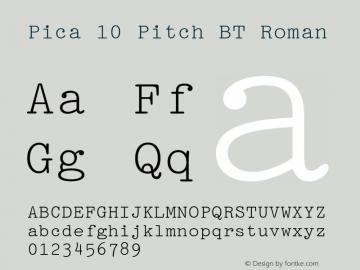 Pica 10 Pitch BT