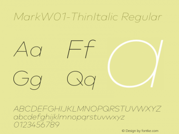 MarkW01-ThinItalic