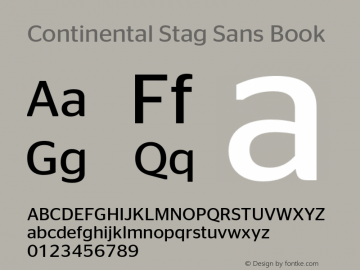 Continental Stag Sans