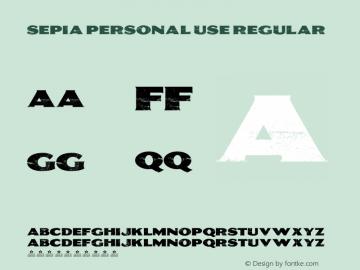 SEPIA Personal Use