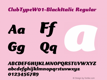 ClubTypeW01-BlackItalic