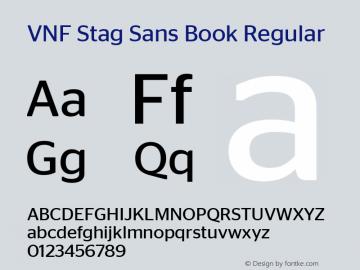 VNF Stag Sans Book