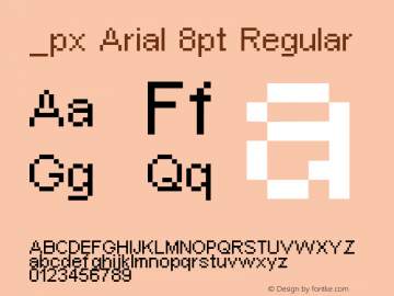 _px Arial 8pt