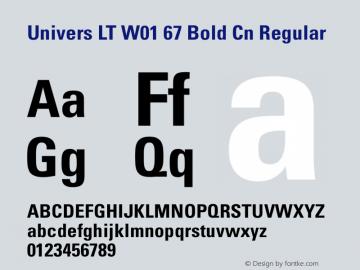 Univers LT W01 67 Bold Cn