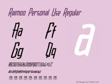 Raimoo Personal Use