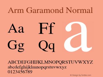 Arm Garamond