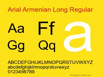 Arial Armenian Long