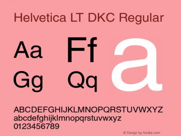 Helvetica LT DKC