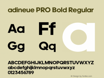 adineue PRO Bold