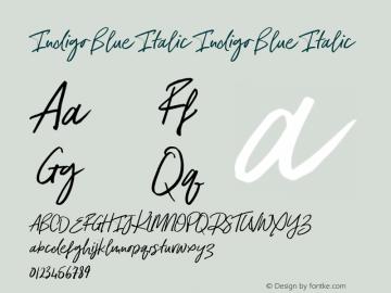 Indigo Blue Italic
