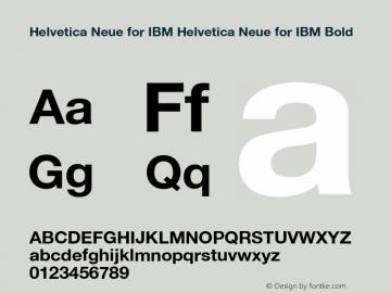 Helvetica Neue for IBM