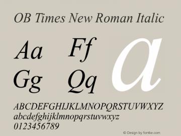 OB Times New Roman