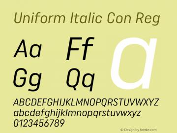 Uniform Italic Con