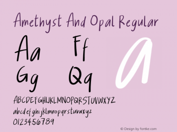 Amethyst And Opal