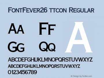 FontFever26 ttcon
